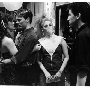 Still of Steve Antin Diane Franklin Lawrence Monoson and Kimmy Robertson in The Last American Virgin 1982