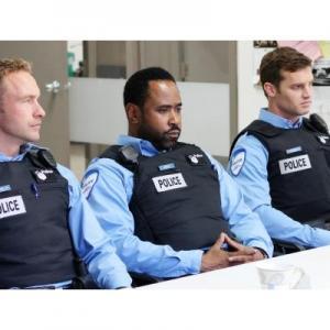 Still from Bravo's adaptation of 19-2 Daniel Petronijevic, Benz Antoine, Jared Keeso