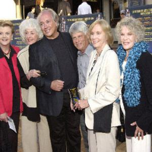 (L to R) Cast members Angela Lansbury, Bea Arthur, Rick McKay, Robert Morse, Eva Marie Saint & Janis Paige at the July 2004 Los Angeles premiere of McKay's film,
