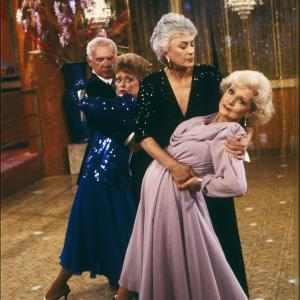 Still of Rue McClanahan, Bea Arthur and Betty White in The Golden Girls (1985)