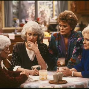 Still of Estelle Getty, Rue McClanahan, Bea Arthur and Betty White in The Golden Girls (1985)