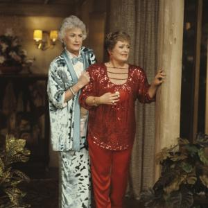 Still of Rue McClanahan and Bea Arthur in The Golden Girls (1985)