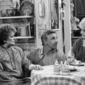 Still of Rue McClanahan, Bea Arthur and Donnelly Rhodes in The Golden Girls (1985)
