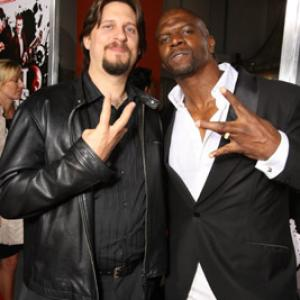 David Ayer and Terry Crews at event of Street Kings (2008)