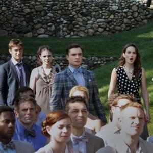 Still of Michelle Trachtenberg Penn Badgley Leighton Meester Chace Crawford and Ed Westwick in Liezuvautoja 2007