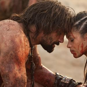 Still of Manu Bennett and Cynthia Addai-Robinson in Spartacus: Blood and Sand (2010)