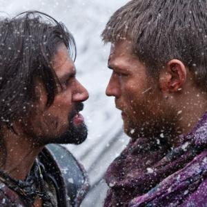 Still of Manu Bennett and Liam McIntyre in Spartacus: Blood and Sand (2010)