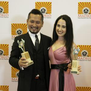 2014 Madrid International Film Festival winners Kenshow Onodara and Catherine Black