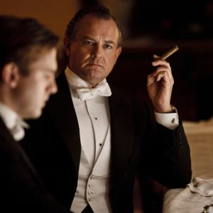 Still of Hugh Bonneville and Dan Stevens in Downton Abbey 2010