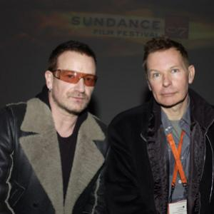 Bono and Julien Temple at event of Joe Strummer The Future Is Unwritten 2007