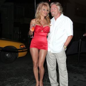 Pamela Anderson and Richard Branson