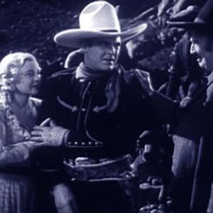 Frank Brownlee Ken Maynard and Cecilia Parker in Tombstone Canyon 1932