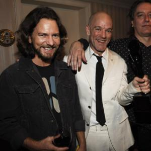 Michael Stipe, Peter Buck, Eddie Vedder