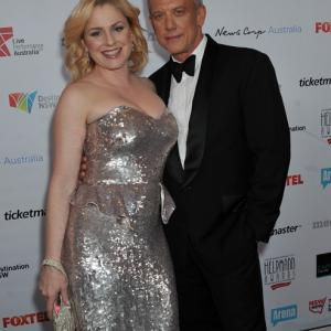 Simon Burke  Helen Dallimore at Helpmann Awards Sydney 2014