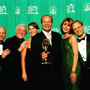 Kelsey Grammer David Hyde Pierce John Mahoney Peri Gilpin Jane Leeves and Dan Butler