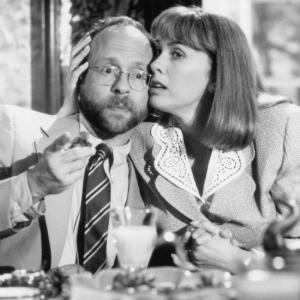 Still of Bob Balaban and Colleen Camp in Greedy 1994