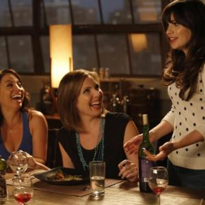 Still of Kay Cannon Zooey Deschanel and June Diane Raphael in New Girl 2011