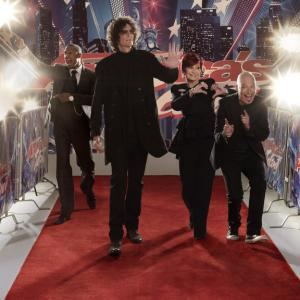 Still of Howard Stern, Howie Mandel, Nick Cannon and Sharon Osbourne in America's Got Talent (2006)