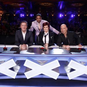 Still of Howie Mandel, Nick Cannon, Piers Morgan and Sharon Osbourne in America's Got Talent (2006)