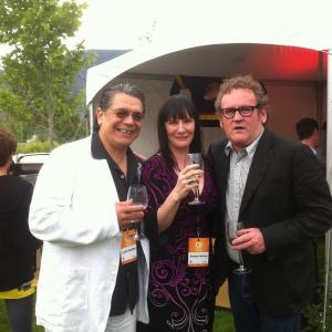 Lorne Cardinal Monique Hurteau and Colm Meaney at the 2011 Osoyoos Celebrity Wine Festival cohosted by Jason Priestly  Chad Oakes
