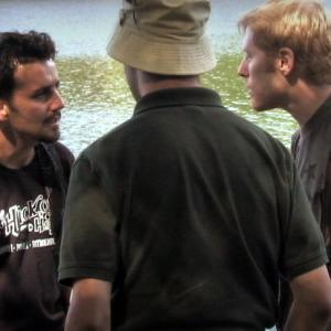 Max Casella Anthony Rapp and Chance Pinnell in Scaring the Fish 2008
