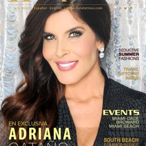 July 2015 cover of Hola Latinos Magazine