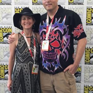 Victoria Charters & Austin Richards at Comic Con 2015 for the premiere of