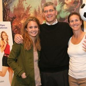 Brandi Chastain, Leah Pipes, Norm Hunter