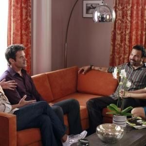 Still of Ricardo Chavira, Eva Longoria, Kevin Rahm and Tuc Watkins in Nusivylusios namu seimininkes (2004)