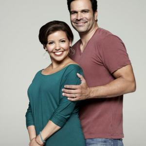Still of Ricardo Chavira and Justina Machado in Welcome to the Family (2013)