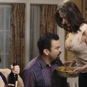 Still of Teri Hatcher, Ricardo Chavira and Eva Longoria in Nusivylusios namu seimininkes (2004)