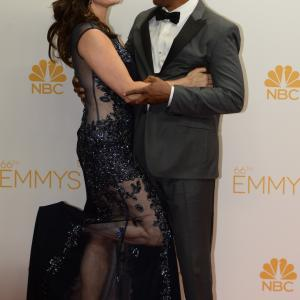 Nora Chavooshian and Joe Morton at event of The 66th Primetime Emmy Awards 2014