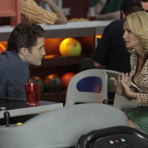 Still of Kristin Chenoweth and Cory Monteith in Glee 2009