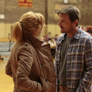 Still of David Chisum and Kelly Reilly in Black Box 2014
