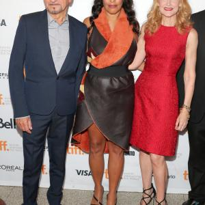 Ben Kingsley, Sarita Choudhury and Patricia Clarkson at event of Learning to Drive (2014)