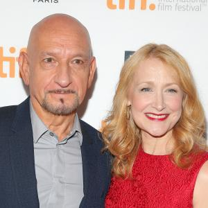Ben Kingsley and Patricia Clarkson at event of Learning to Drive (2014)