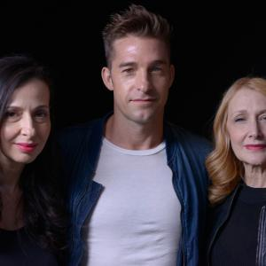 Scott Speedman, Patricia Clarkson and Ruba Nadda at event of October Gale (2014)