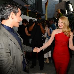 Patricia Clarkson and Zal Batmanglij at event of The East (2013)