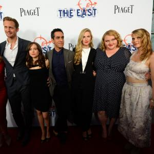 Alexander Skarsgård, Patricia Clarkson, Ellen Page, Brit Marling, Zal Batmanglij, Hillary Baack and Danielle Macdonald at event of The East (2013)