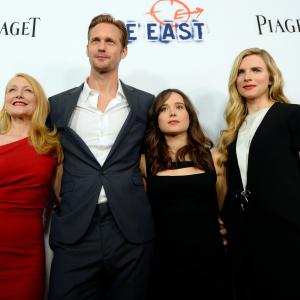 Alexander Skarsgård, Patricia Clarkson, Ellen Page and Brit Marling at event of The East (2013)