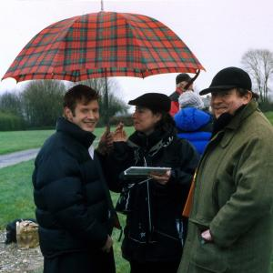 Jason Flemyng, director David Fairman and crew on the set of Lighthouse Hill
