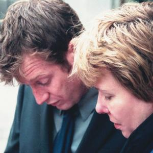 Jason Flemyng and Sharon Y. Cobb on the set of Lighthouse Hill
