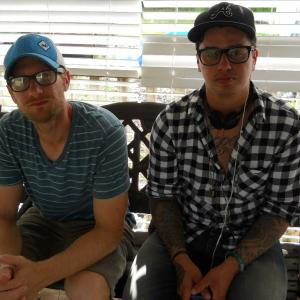 Ryan Dean, director of photography and L. Gustavo Cooper, director, on the set of June.