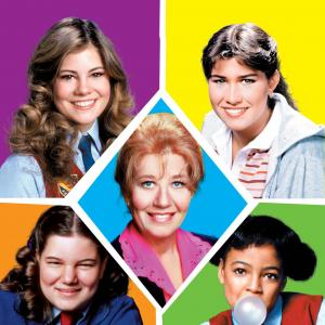Nancy McKeon, Kim Fields, Mindy Cohn, Charlotte Rae, Lisa Whelchel