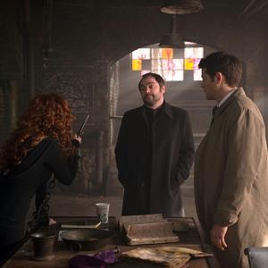 Misha Collins, Mark Sheppard, Ruth Connell