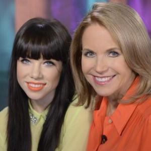 Katie Couric and Carly Rae Jepsen