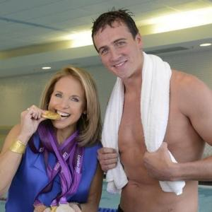 Katie Couric and Ryan Lochte
