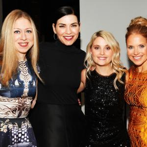 Julianna Margulies, Chelsea Clinton and Katie Couric