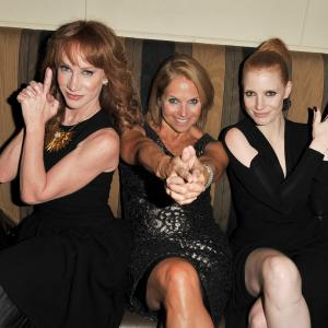 Kathy Griffin, Katie Couric and Jessica Chastain