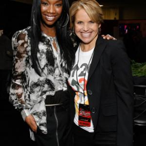 Brandy Norwood and Katie Couric